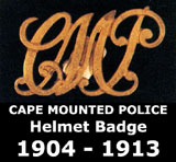 Cape Mounted Police Helmet Badge