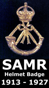 South African Mounted Rifle (SAMR) Helmet Badge