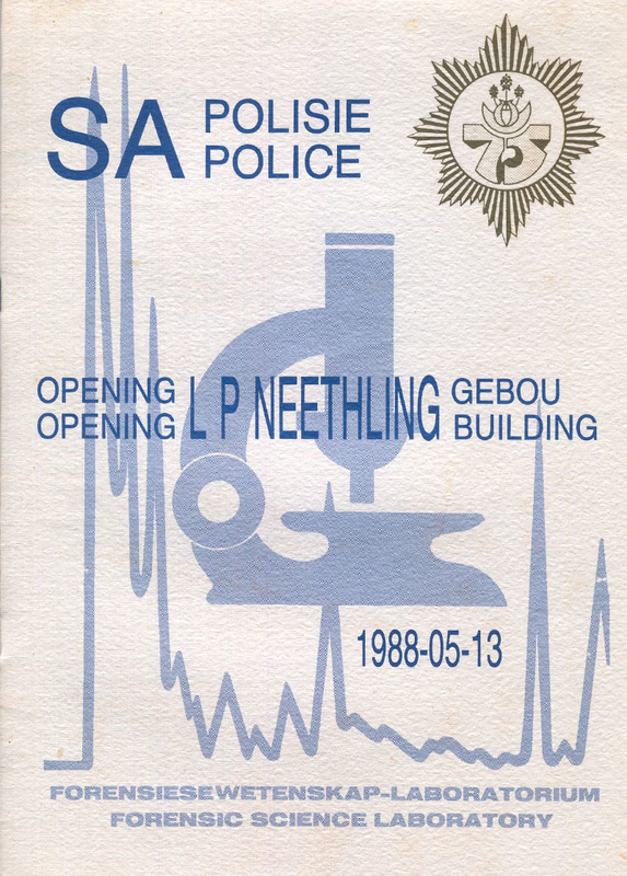 Opening LP Neethling Building - Forensic Science Laboratory - 1988-05-13