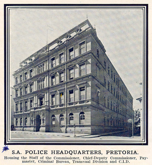 SA POLICE HEADQUARTERS PRETORIA - THE NONGQAI, JANUARY 1938