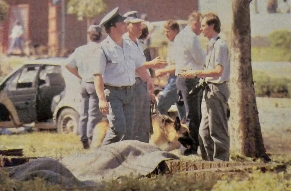 1988 bombing of Krugersdorp Magistrates' Court. Photography by Neville Petersen.